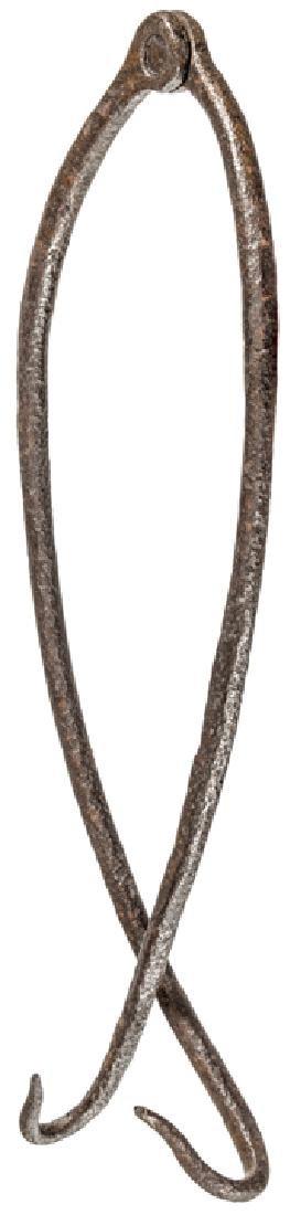 Revolutionary War Hand-Forged Iron Pot Hanger - 2