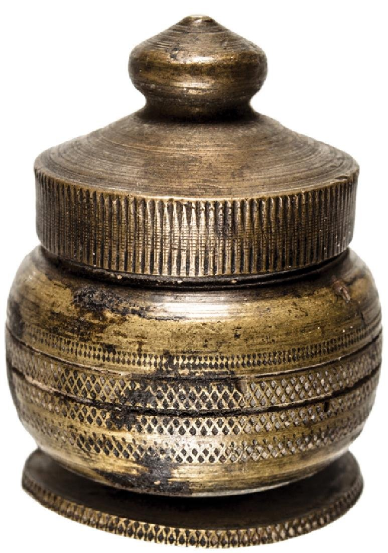 Revolutionary War Traveling Screw-Top Inkwell