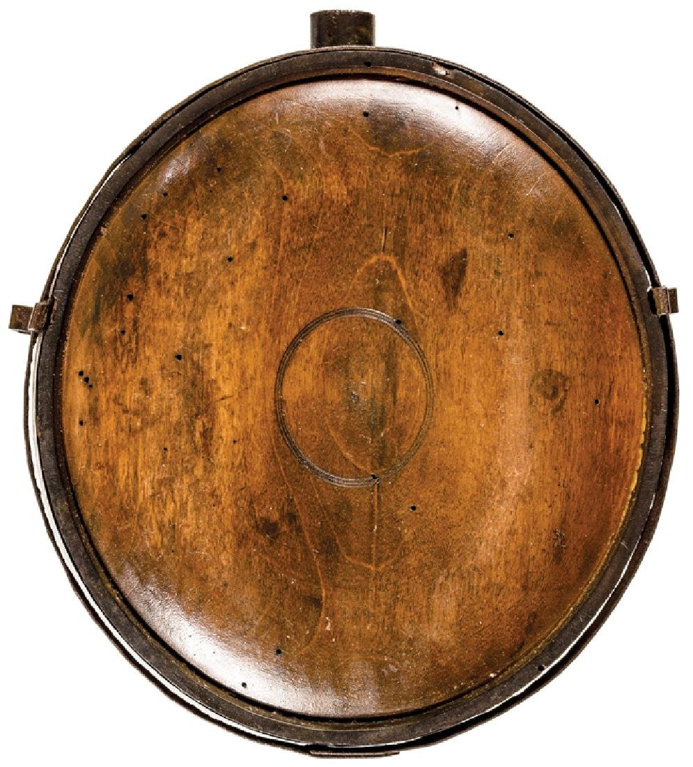 c. 1780 Revolutionary War Soldier's Wood Canteen