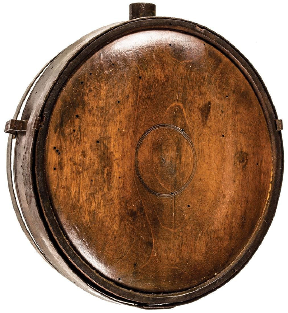 c. 1780 Revolutionary War Soldier's Wood Canteen - 3