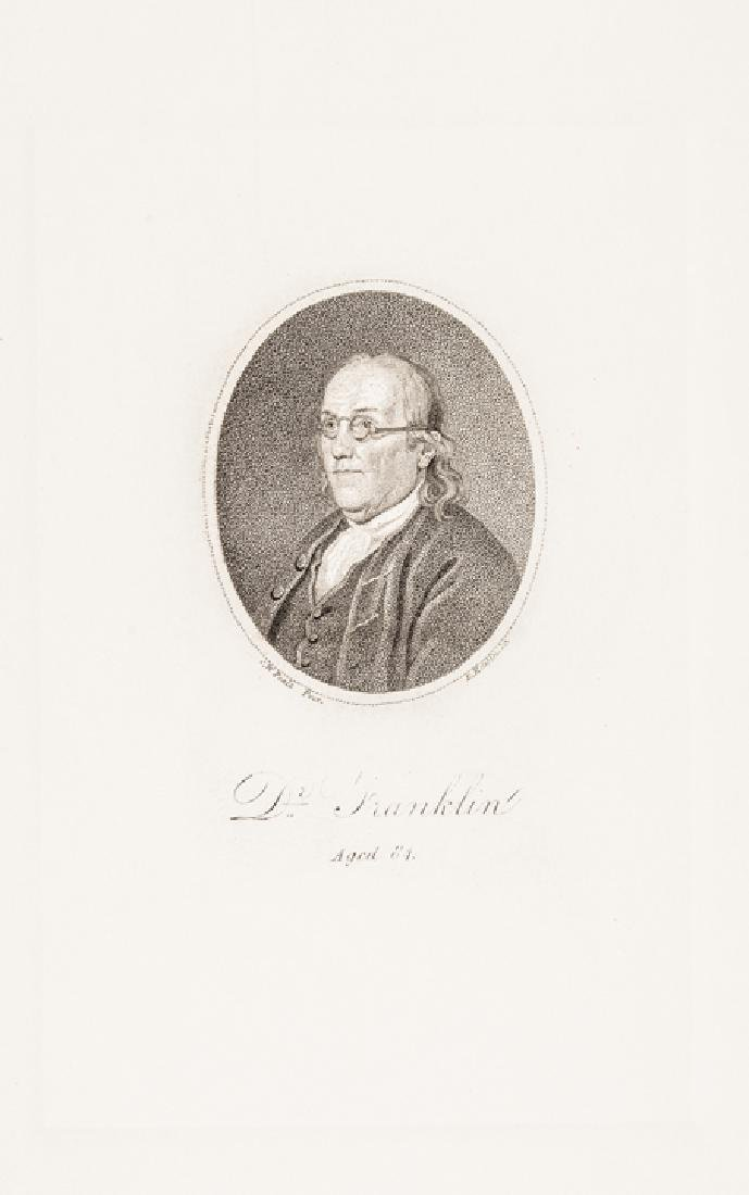 c. 1800 Benjamin Franklin at Age 84 by D. Edwin