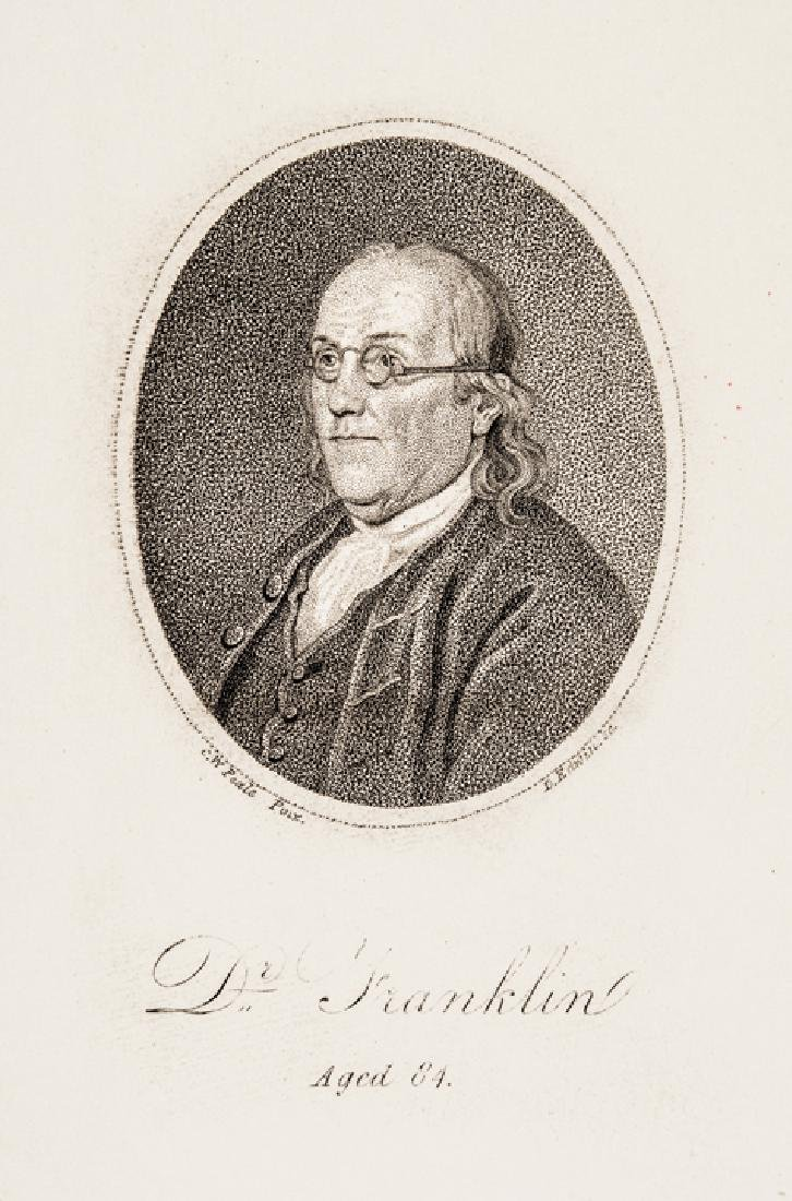 c. 1800 Benjamin Franklin at Age 84 by D. Edwin - 2