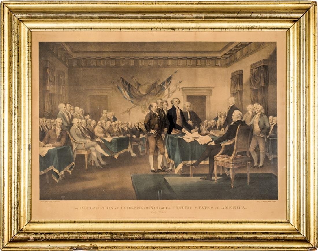c. 1840 Ralph Trembly DECLARATION OF INDEPENDENCE