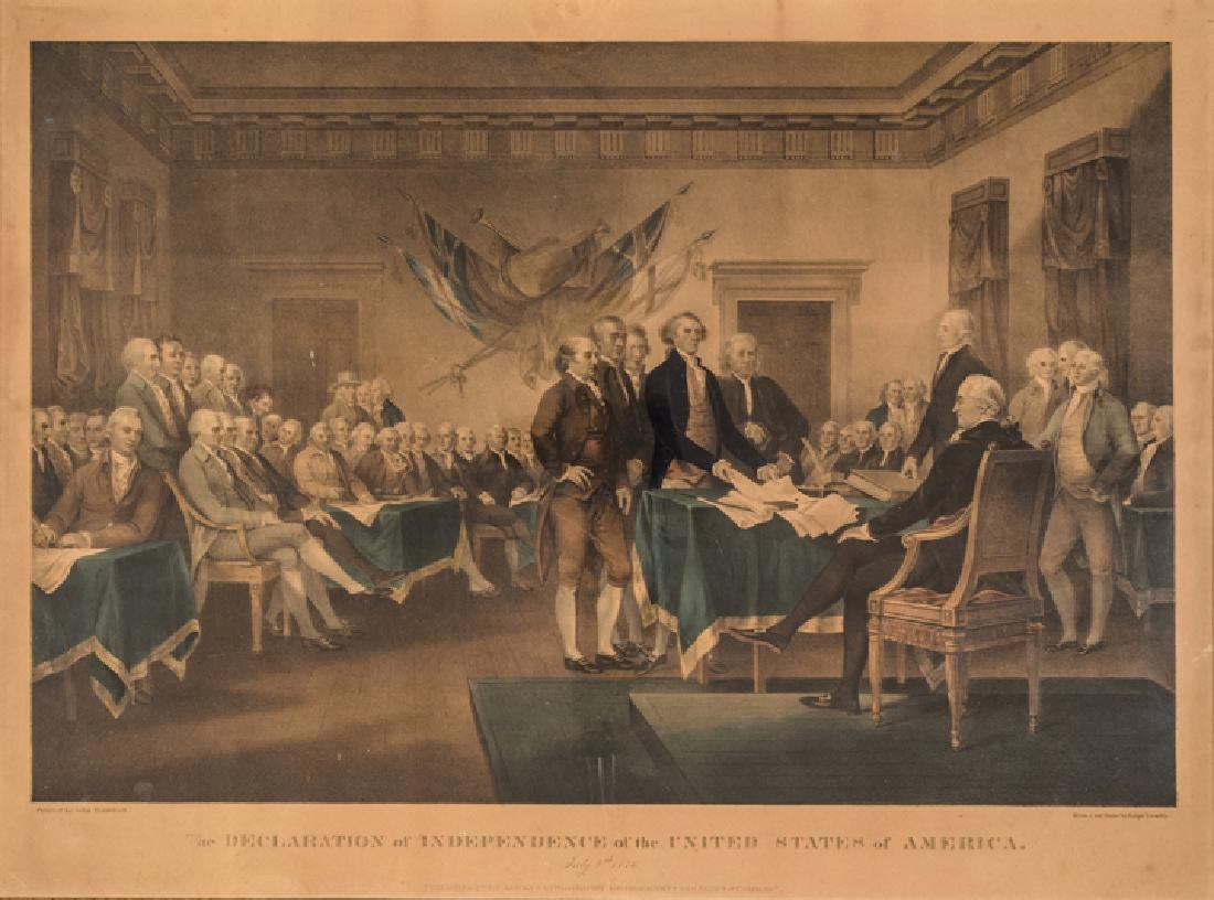 c. 1840 Ralph Trembly DECLARATION OF INDEPENDENCE - 2