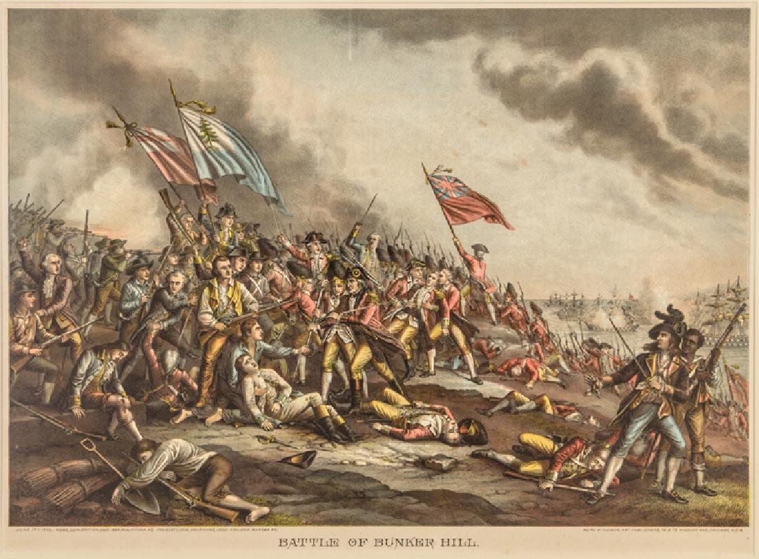c. 1880 Battle of Bunker Hill, Color Lithograph - 2