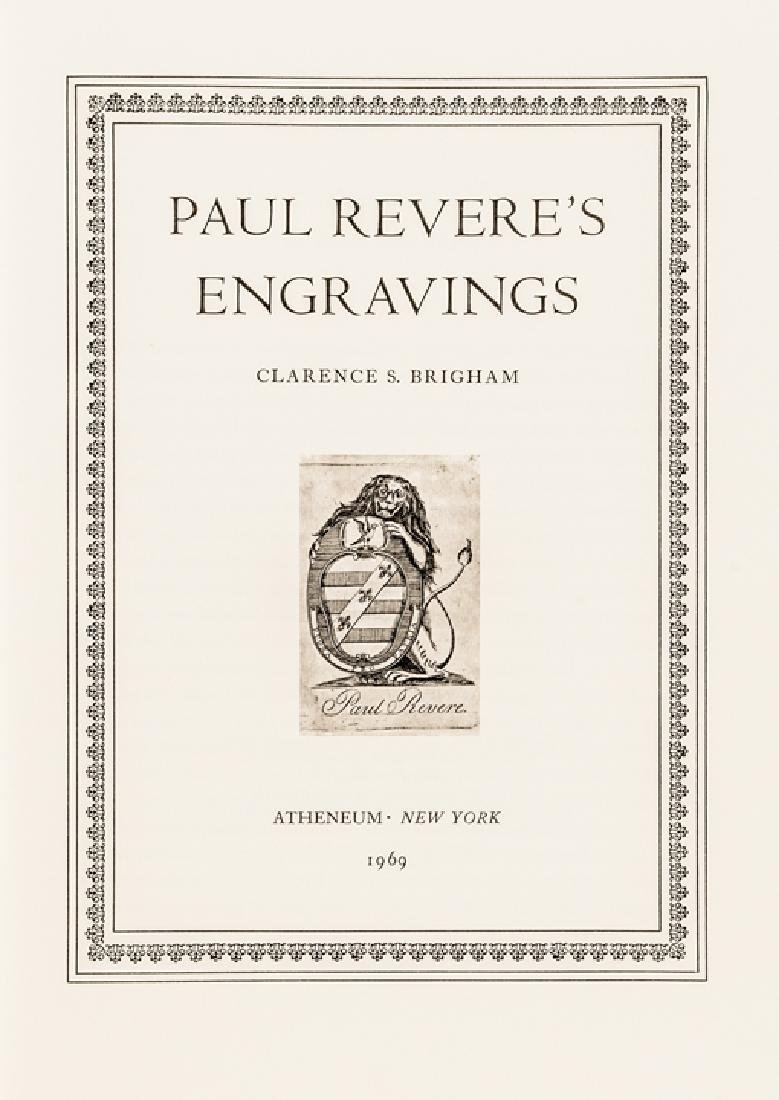 1969 2nd Ed. Reference: PAUL REVERES ENGRAVINGS - 2