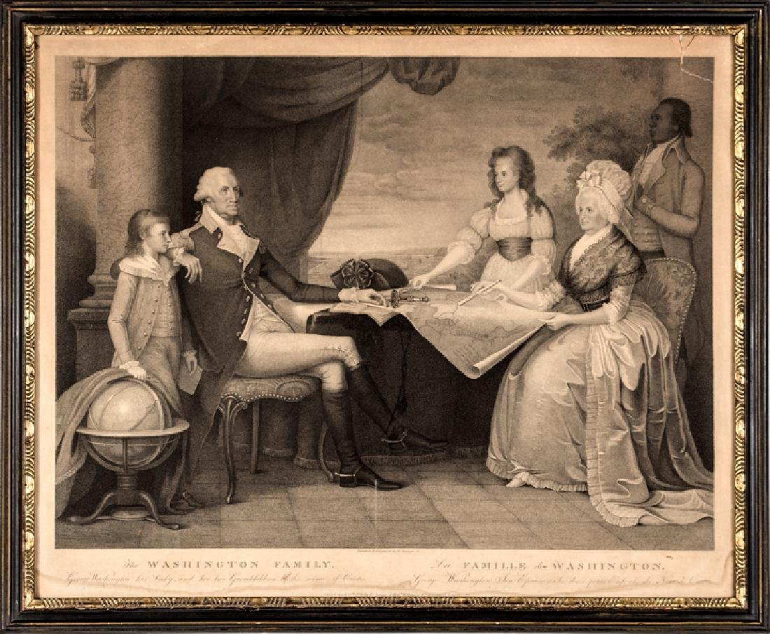 1798 Print of The Washington Family by E. Savage