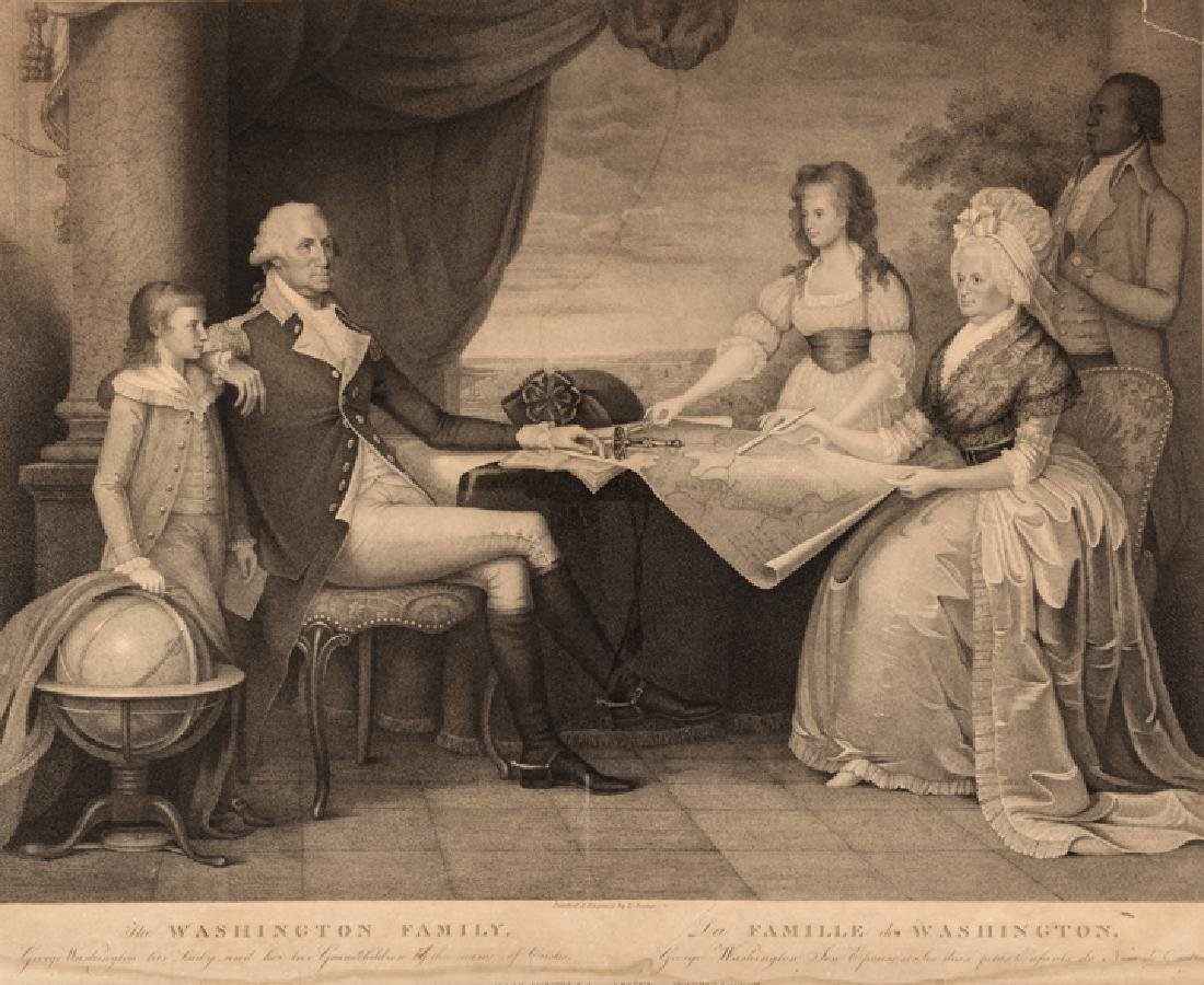 1798 Print of The Washington Family by E. Savage - 2