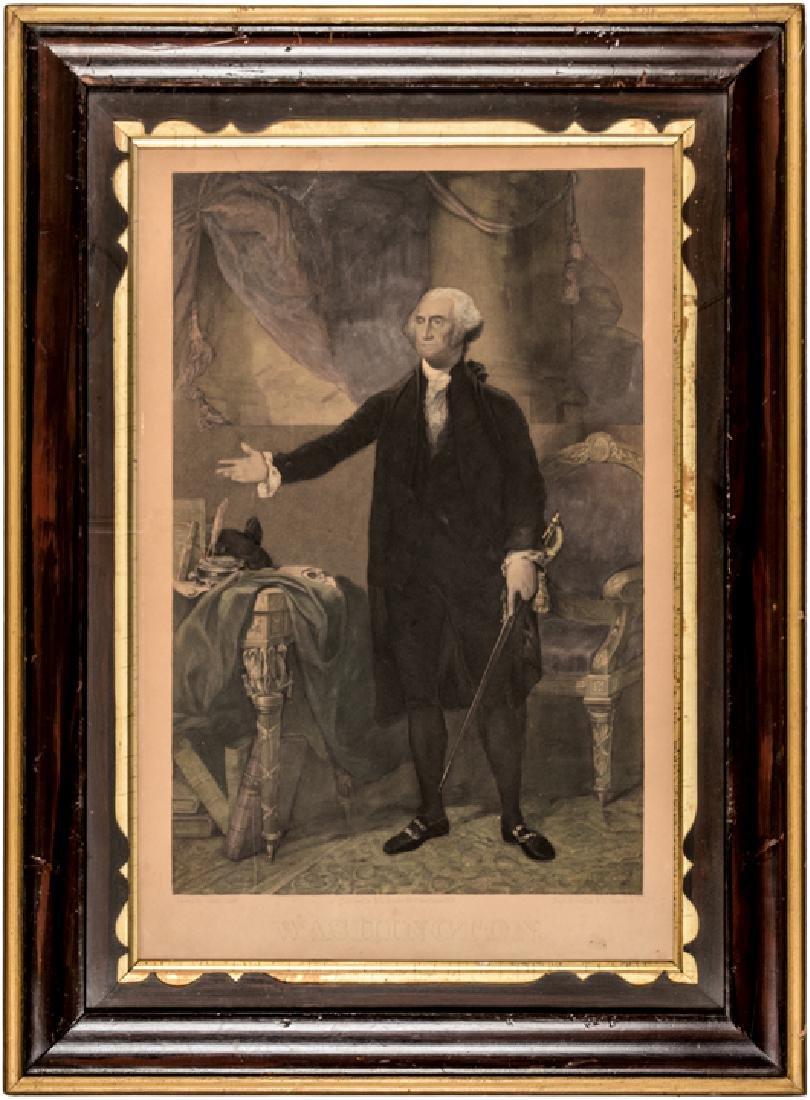 GENERAL WASHINGTON Lansdowne Portrait Engraving