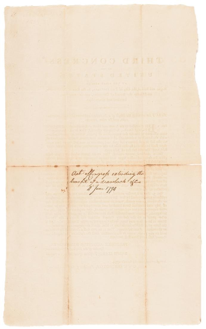 1794 President George Washington US ACT Approved - 2