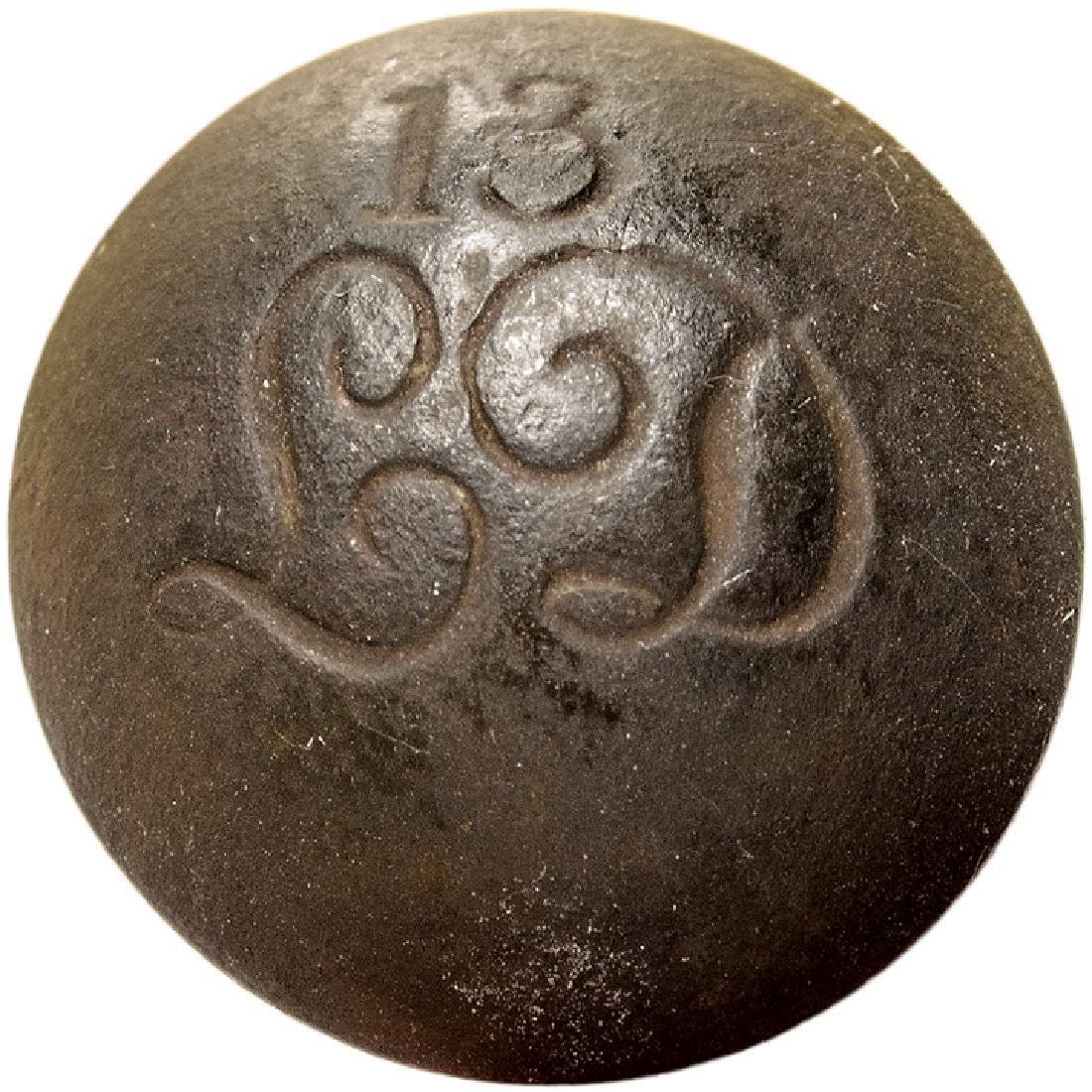 Federal Era British 13th Light Dragoons Button