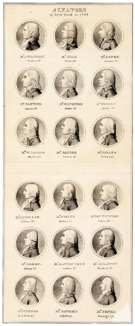 Important Pair of 1798 New York Political Prints