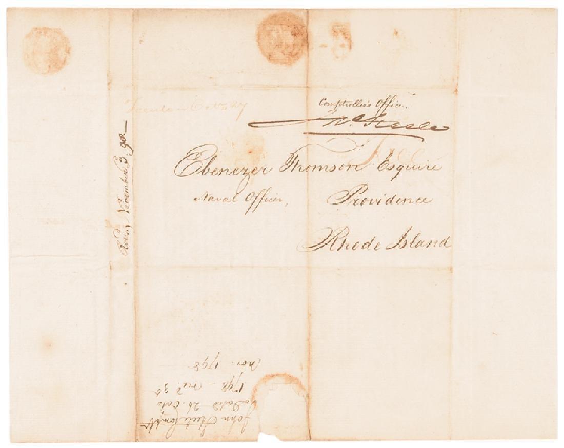 1798 Treasury Tax Circular Ship Slaves + Mulattos - 2