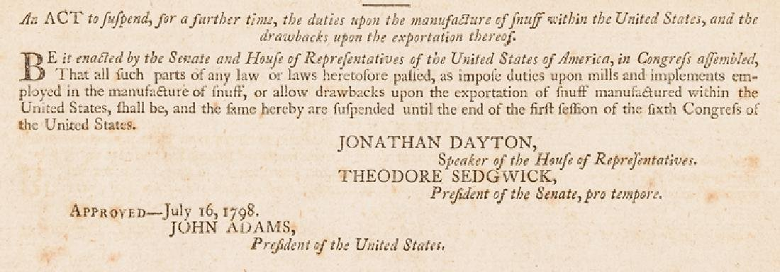 1798 President John Adams Approved ACTS Congress - 4