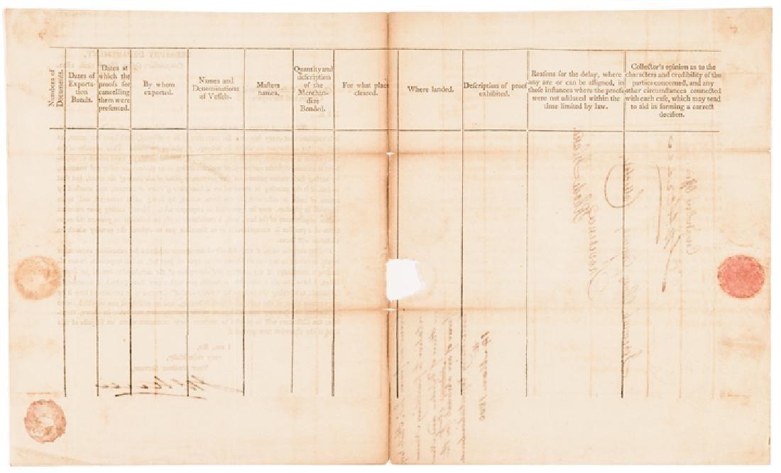 1800 Treasury Depart. Circular Ships Registration - 3