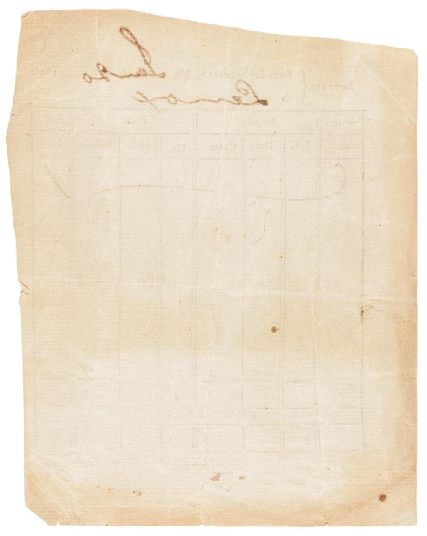1801 Partially-Printed Postmaster Record Form - 2