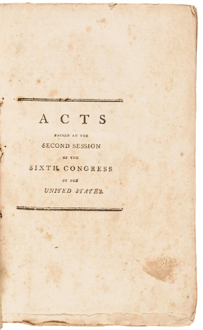 1801 First Edition: LAWS OF THE UNITED STATES...