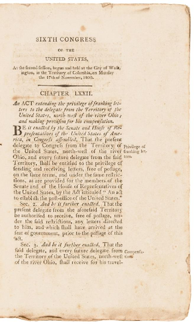 1801 First Edition: LAWS OF THE UNITED STATES... - 2