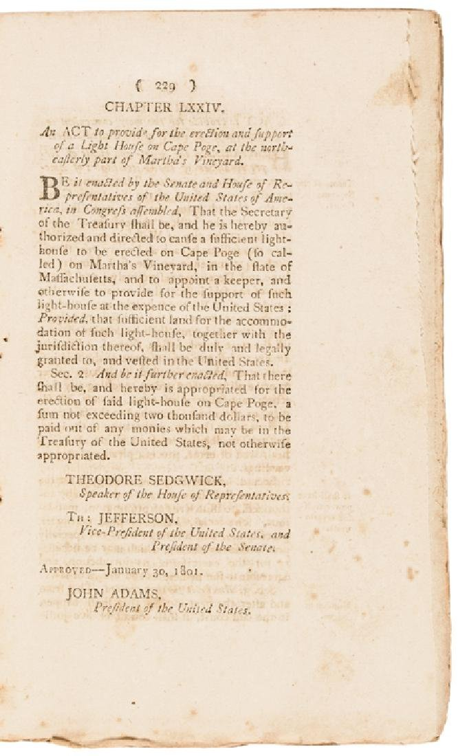1801 First Edition: LAWS OF THE UNITED STATES... - 3