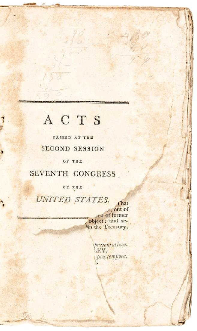 1803 First Edition LAWS OF THE UNITED STATES...