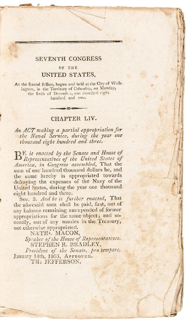 1803 First Edition LAWS OF THE UNITED STATES... - 2