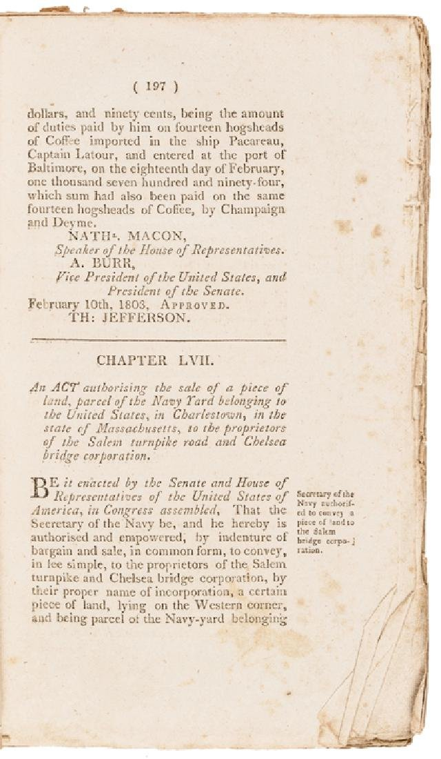 1803 First Edition LAWS OF THE UNITED STATES... - 3