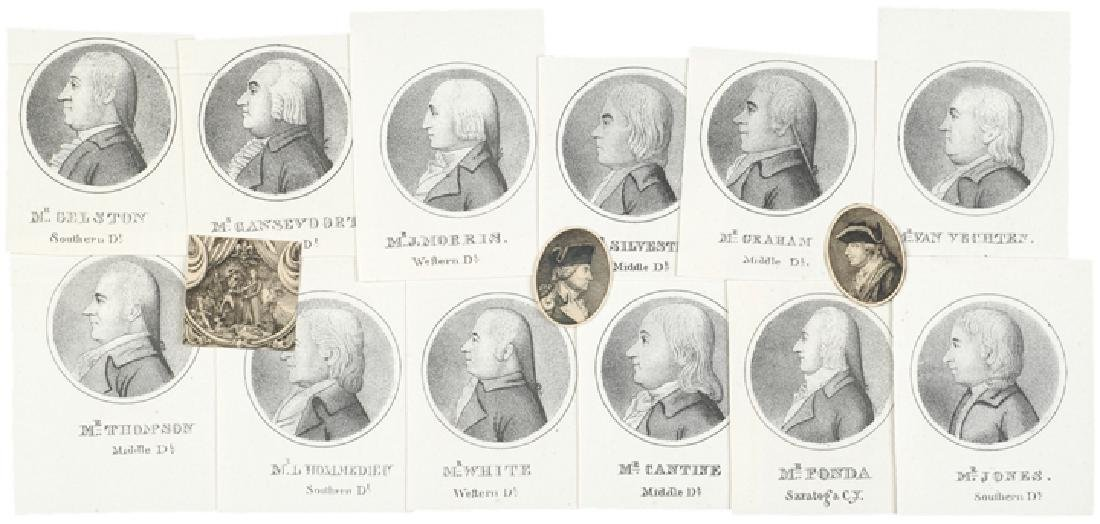 Engraved Portraits of NY State Legislators 1798