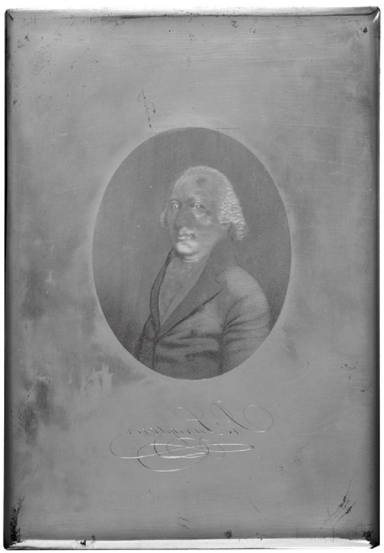 John Langdon Portrait Engraved Printing Plate