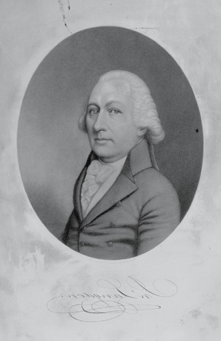 John Langdon Portrait Engraved Printing Plate - 2
