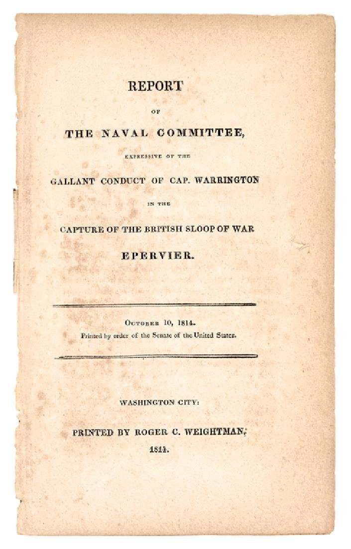 NAVAL REPORT: 1814 Awarded a GOLD MEDAL