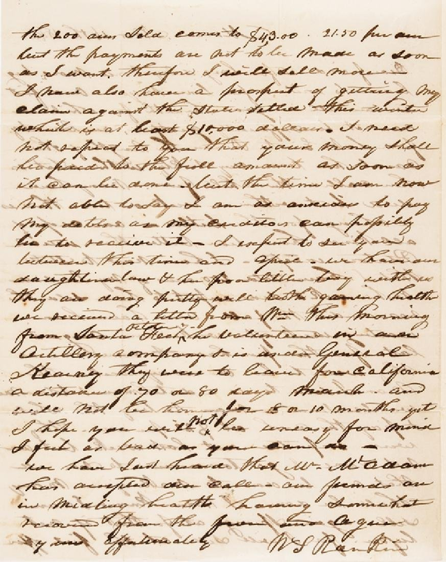 1846 Mexican-American War 2 Good Content Letters - 2