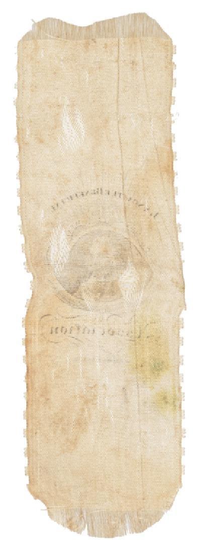c. 1820 Benjamin Franklin Portrait Silk Ribbon - 2
