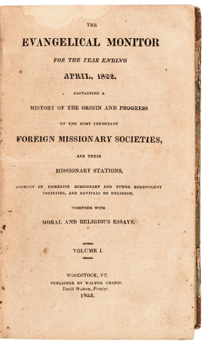 1820s Woodstock Vermont Religious Periodical