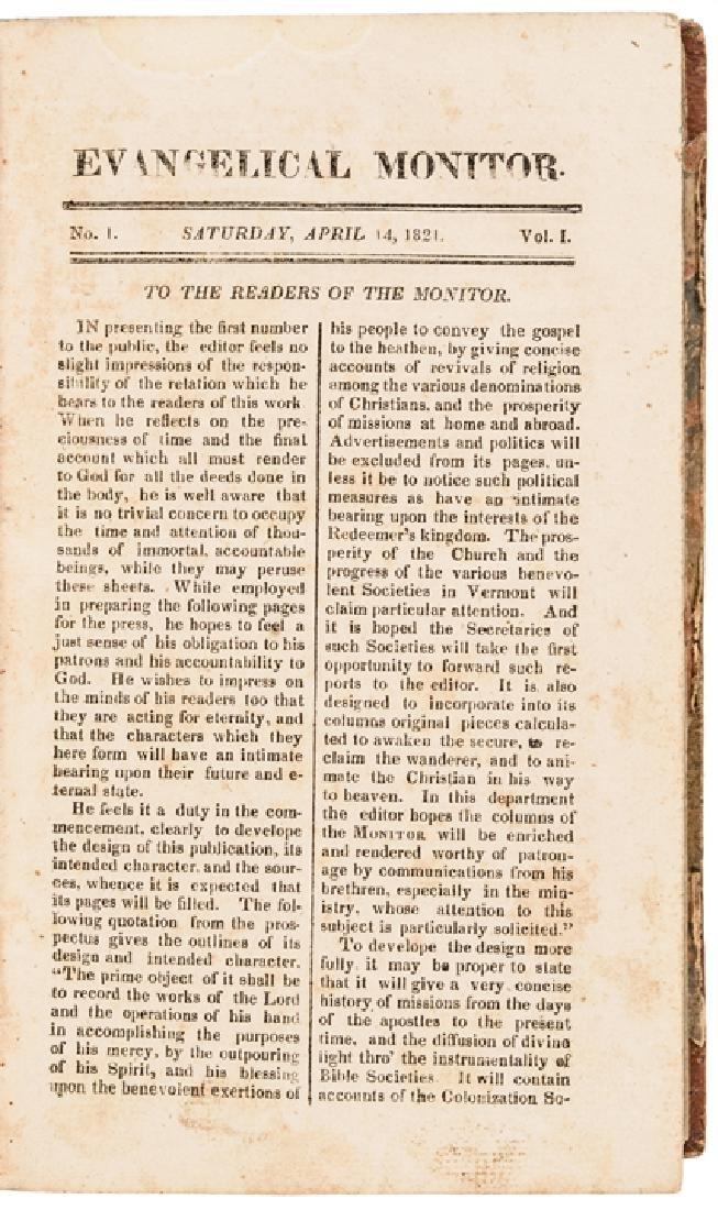 1820s Woodstock Vermont Religious Periodical - 2