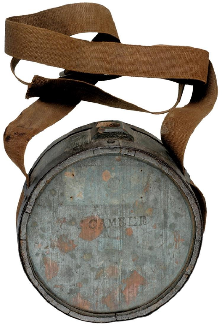 c. 1830 Painted Wooden Canteen with Owner's Name