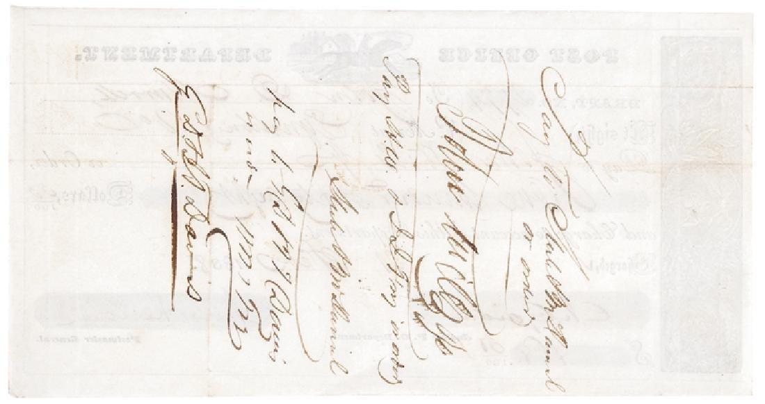 1837 Postal Express Rider Vignette Post Form - 2