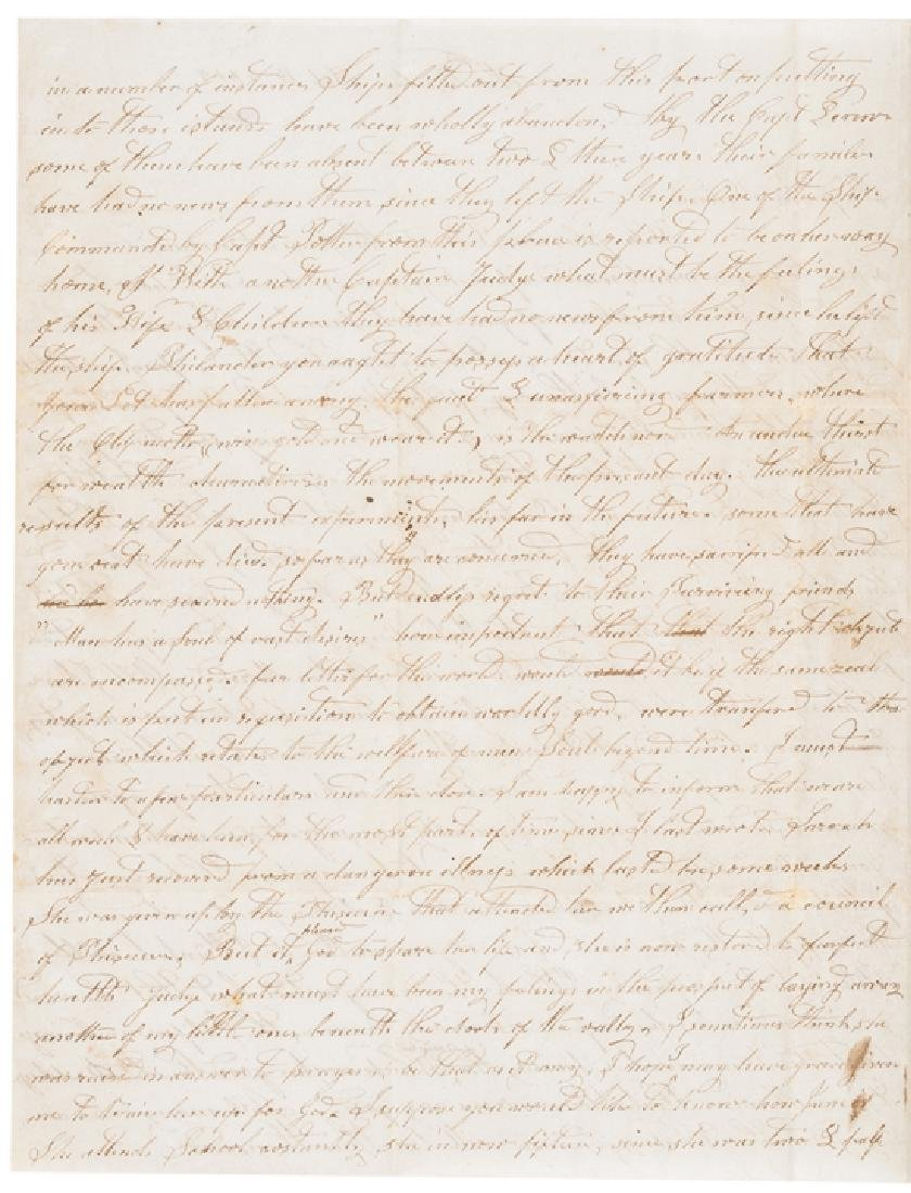 1849 Content Letter California Gold Rush +Whaling - 2