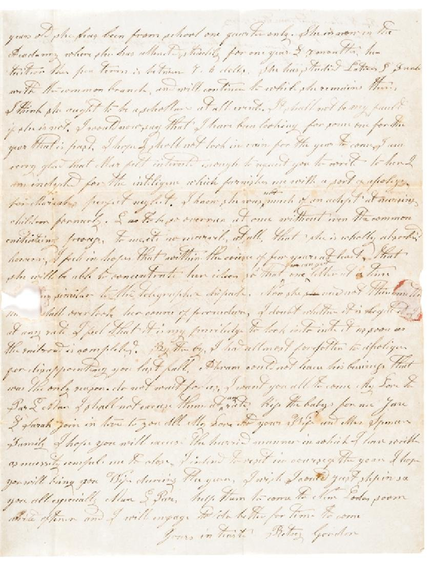 1849 Content Letter California Gold Rush +Whaling - 3