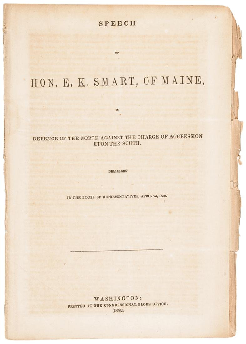 1852 Speech Addresses North and South Aggression