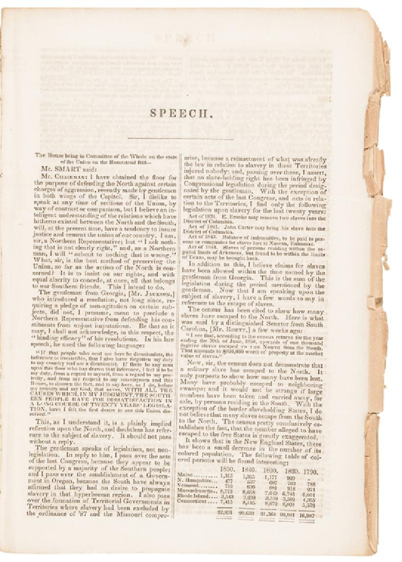 1852 Speech Addresses North and South Aggression - 2