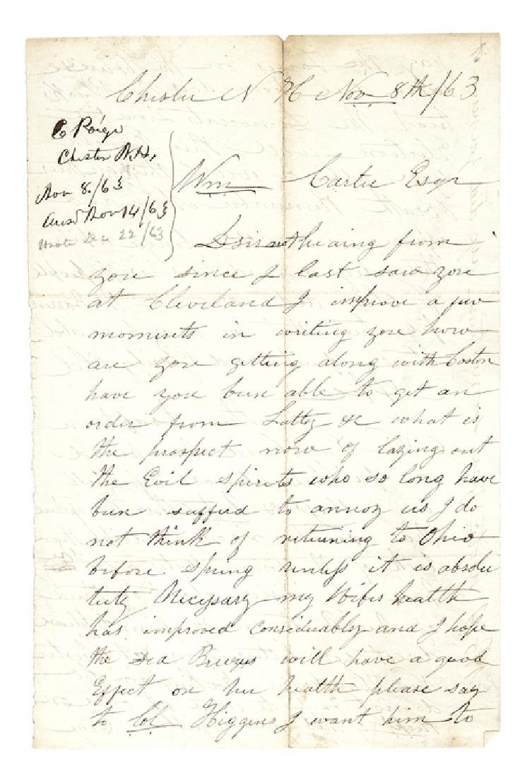 1863 Civil War Political + Black Content Letter