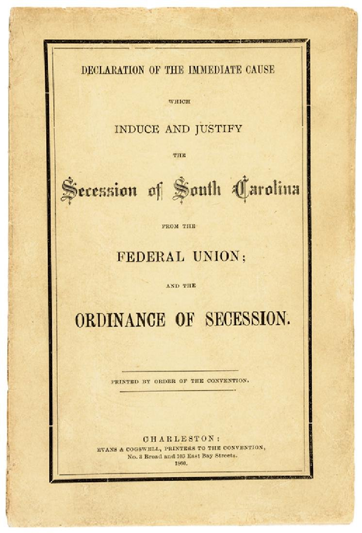 1860 Secession of South Carolina.. Federal Union