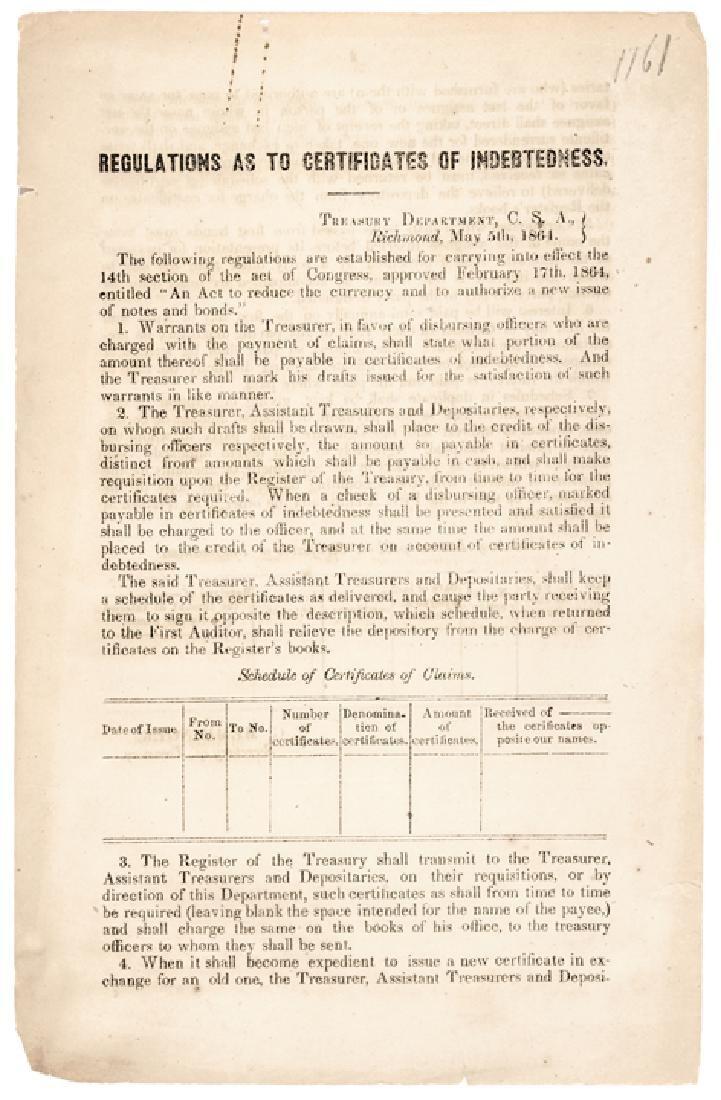 1864-Dated Civil War Period Printed Document