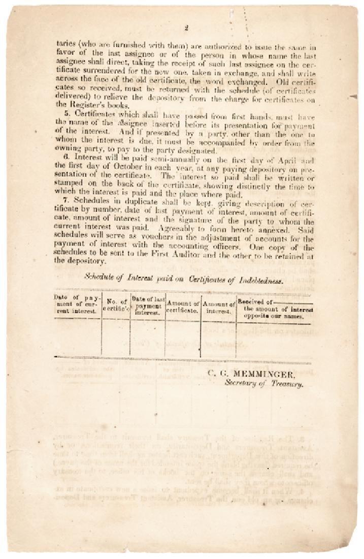 1864-Dated Civil War Period Printed Document - 2
