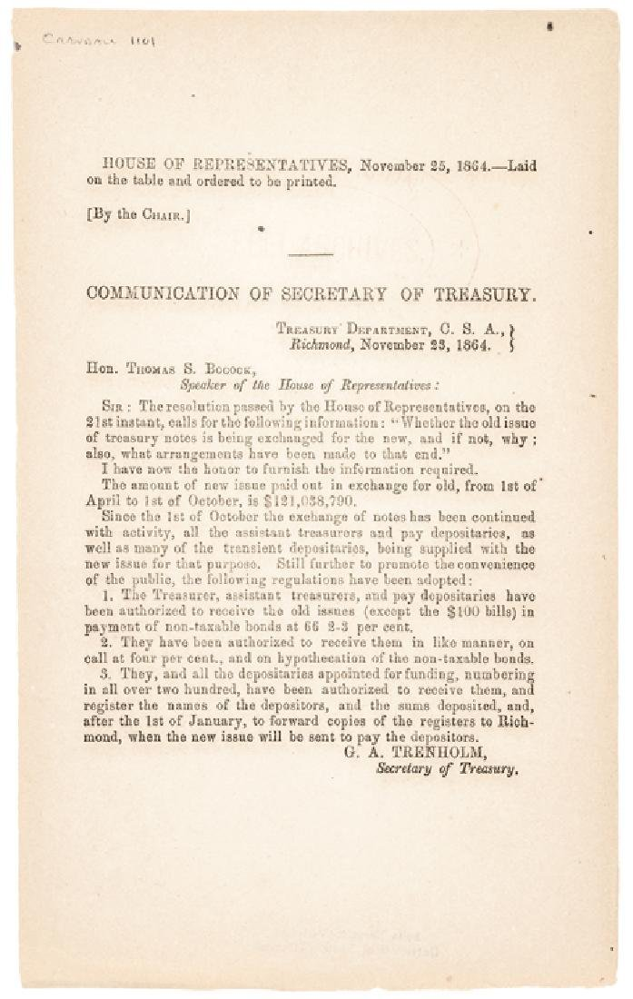 1864-Dated Civil War Period Printed Document
