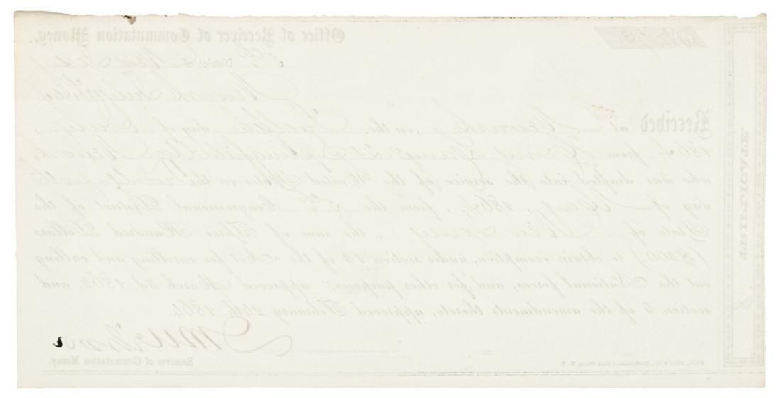 1864 $300 Commutation Money Civil War Draft ! - 2
