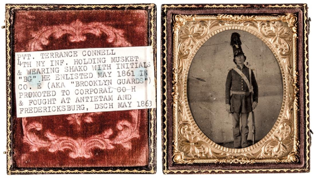 Identified Tintype Terrance Connell NY Infantry - 3