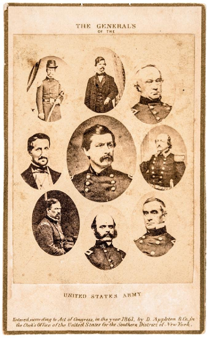 1861 CDV: The Generals of the United States Army