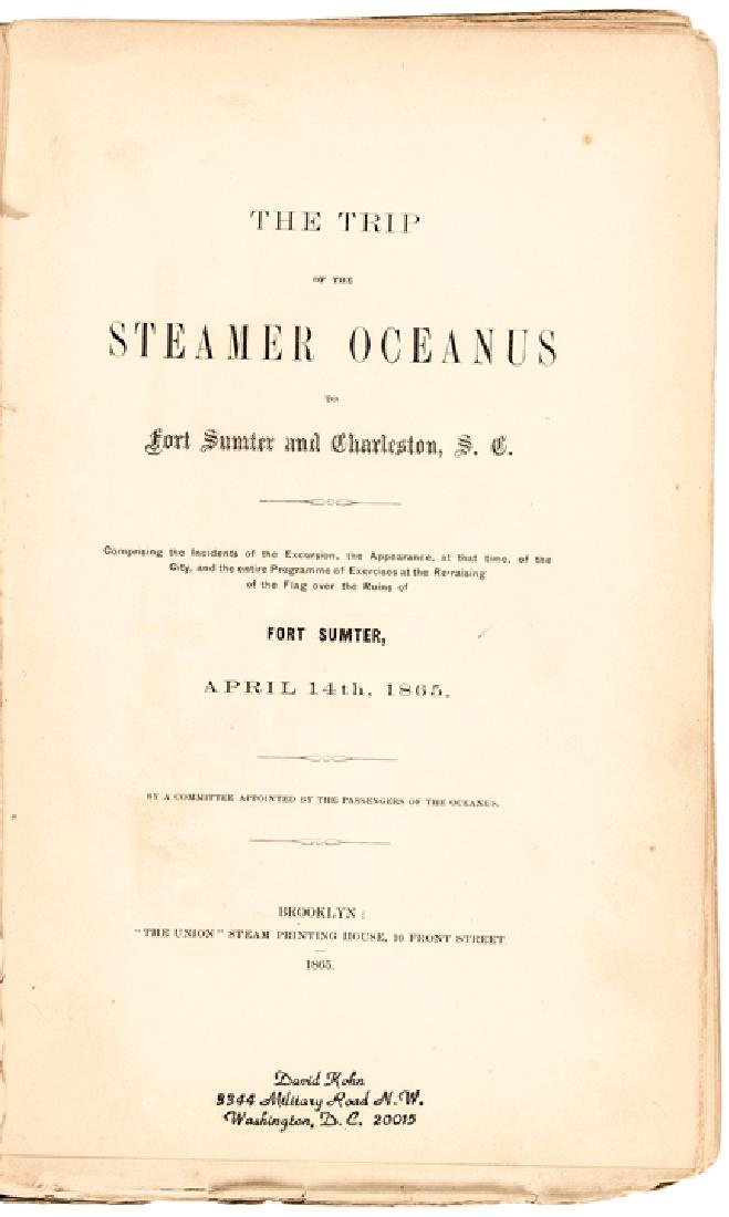 1865 Book: Trip Steamer Oceanus to Fort Sumter...