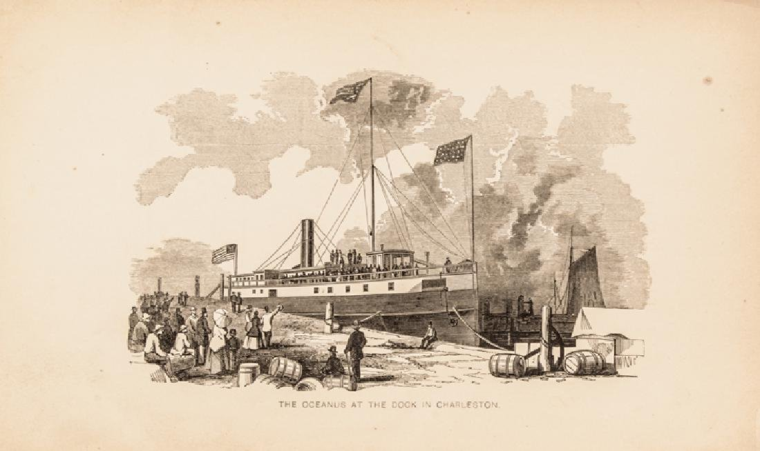 1865 Book: Trip Steamer Oceanus to Fort Sumter... - 2